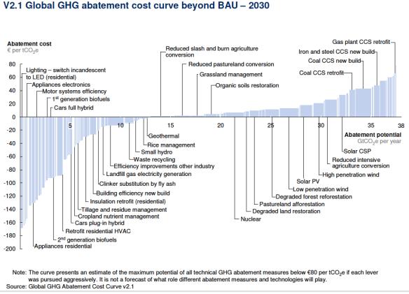 McKinsey Climate Abatement Cost Curve